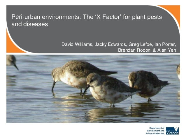 Williams_D_Peri-Urban environments: the x factor for plant pests and diseases