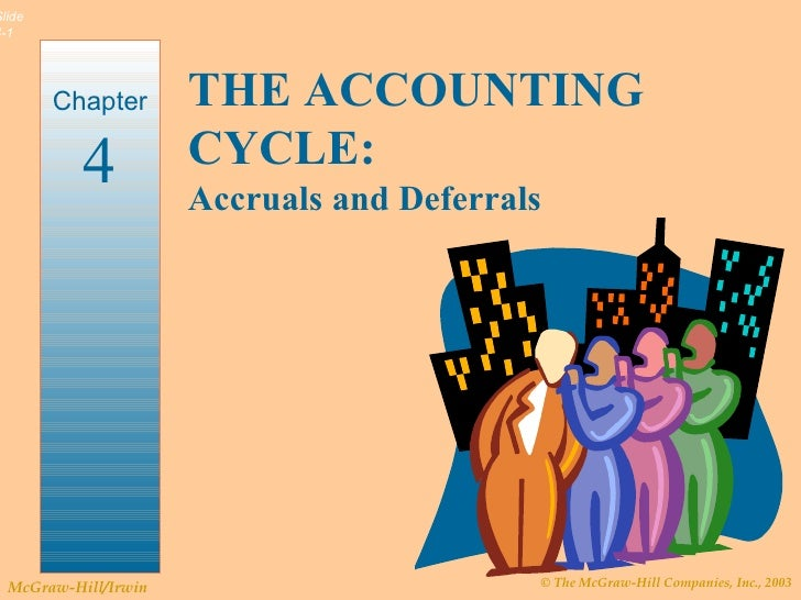 THE ACCOUNTING CYCLE: Accruals and Deferrals Chapter 4