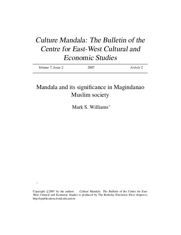 Williams 2007 Mandala Significance In Magindanawn Society