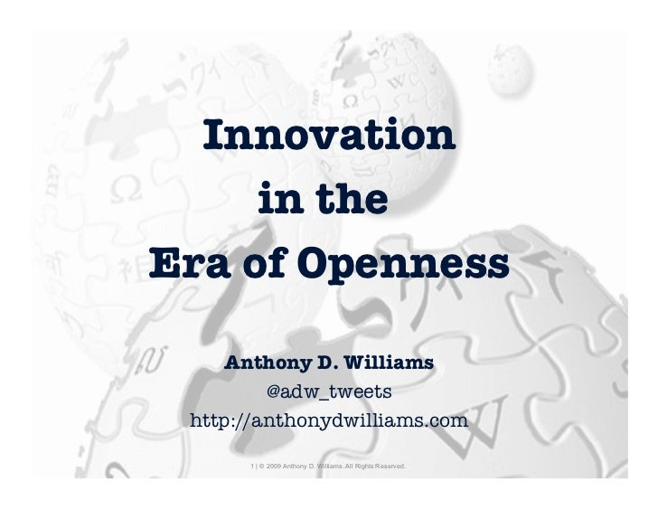 Innovation      in theEra of Openness                                                                                     ...