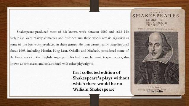 Essay On Shakespeare