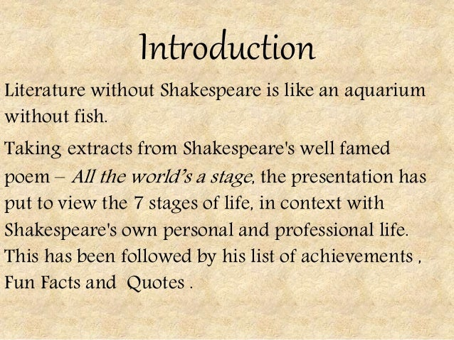 Shakespeare short stories summary