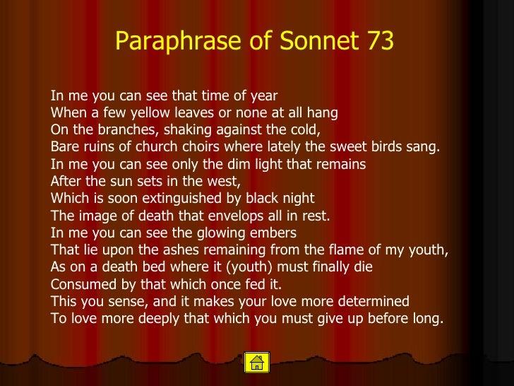 Paraphrasing shakespeare