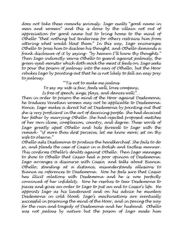 speech on jealousy in othello essay