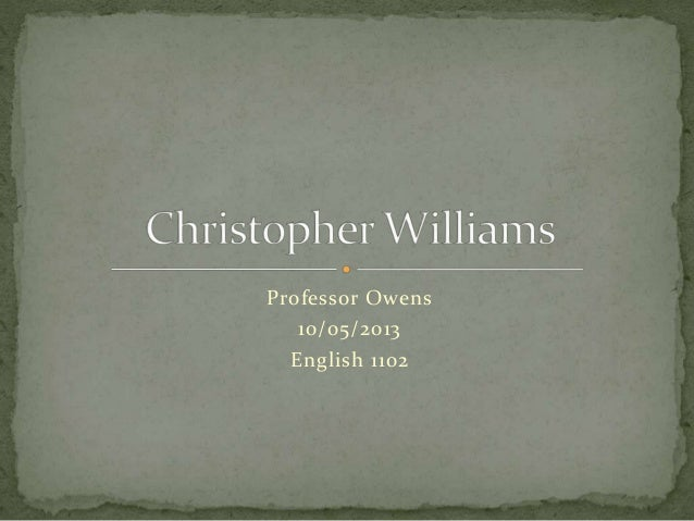 Chris Williams powerpoint