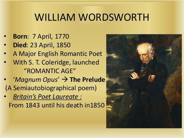 y William Wordsworth - Essay Example