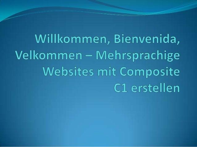 In diesem Artikel geht es um die Erstellung mehrsprachiger Websites mit dem CMS Composite C1. Komfortablerweise verfügt C1...