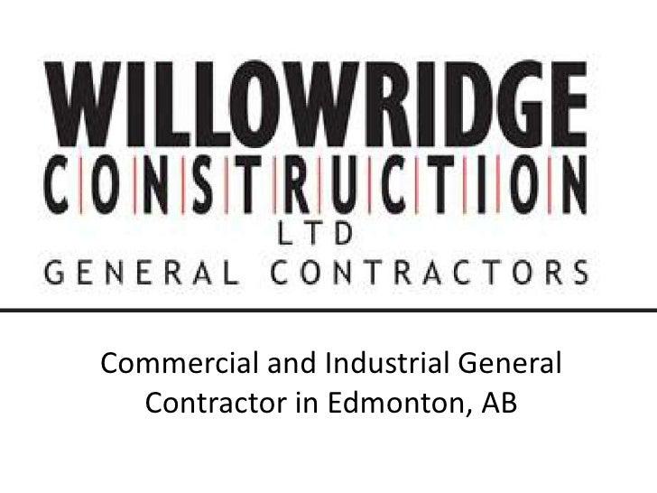 Willowridge general contractor edmonton