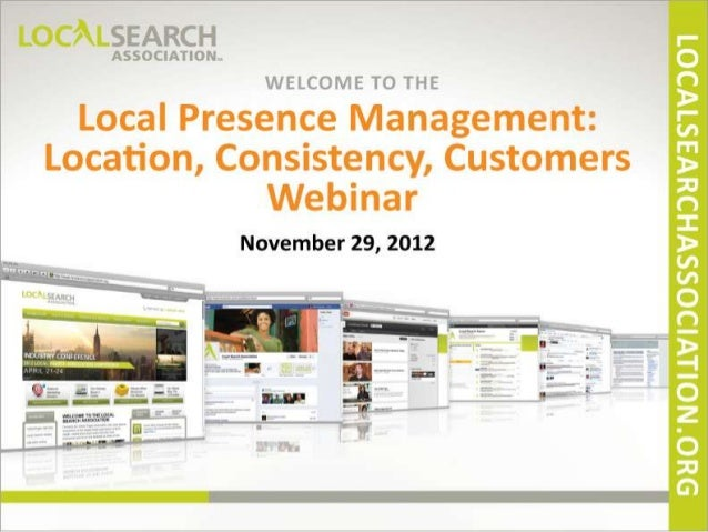 Will Scott Local Search Association Webinar on Local Presence Management