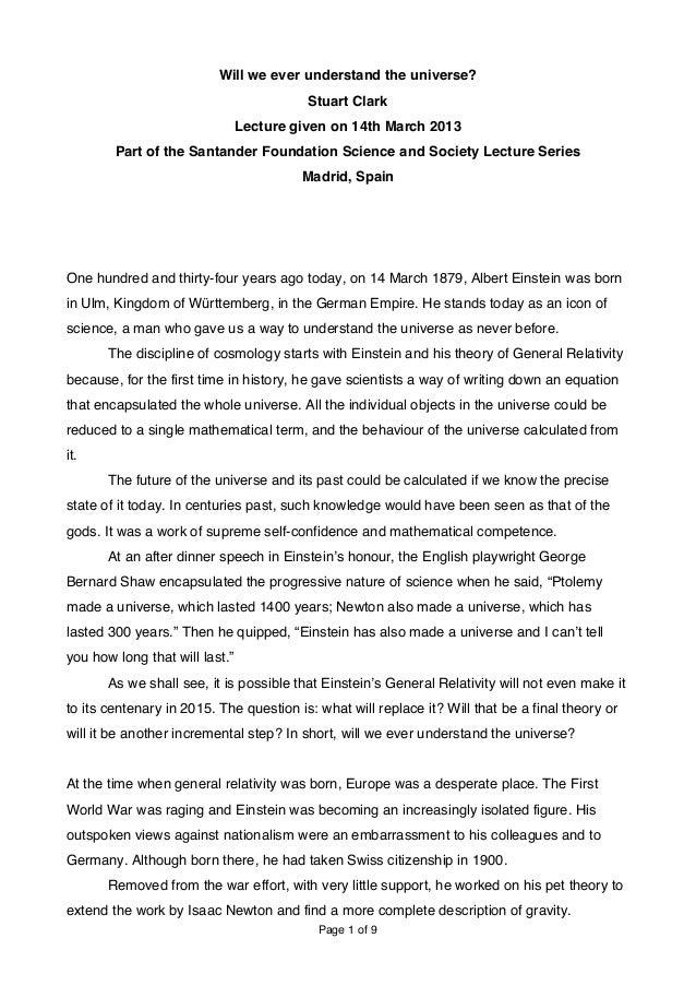 Conferencia de Stuart Clark en Ciencia y Sociedad