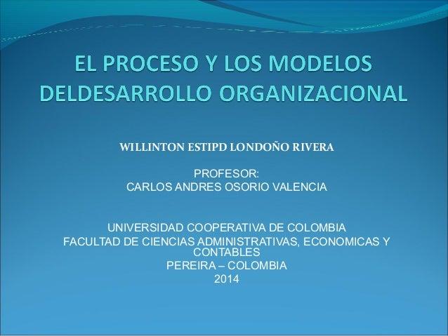 WILLINTON ESTIPD LONDOÑO RIVERA PROFESOR: CARLOS ANDRES OSORIO VALENCIA UNIVERSIDAD COOPERATIVA DE COLOMBIA FACULTAD DE CI...