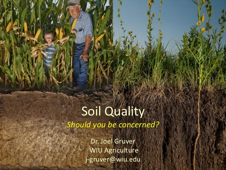 soil quality does it matter