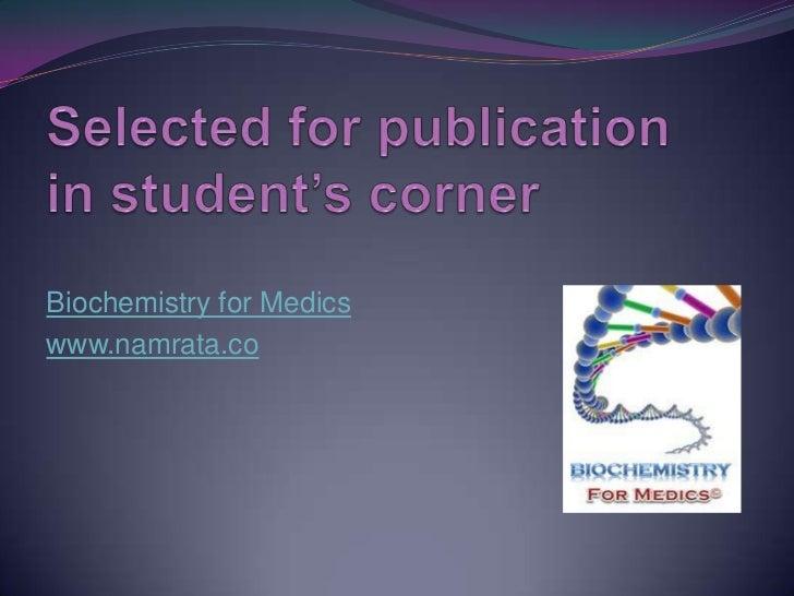 Biochemistry for Medicswww.namrata.co