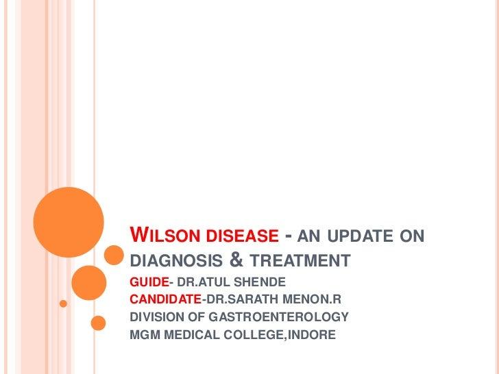 Wilson's disease   an update on diagnosis &