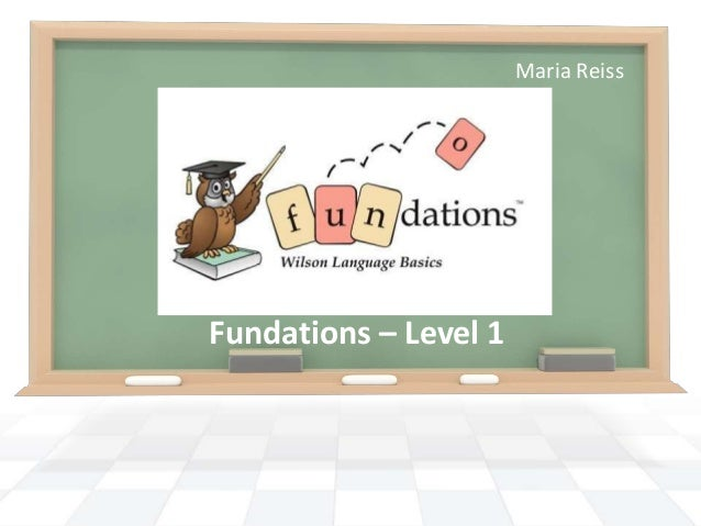 Wilson's Fundations. level 1