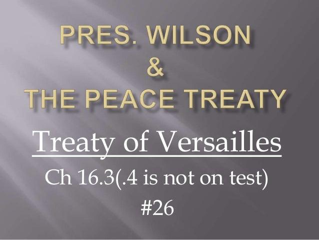 Wilson & the peace treaty 5