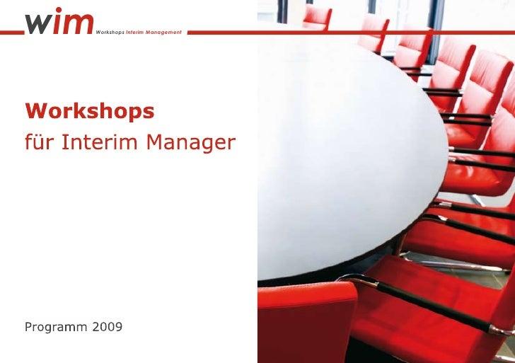 wim   Workshops Interim Management