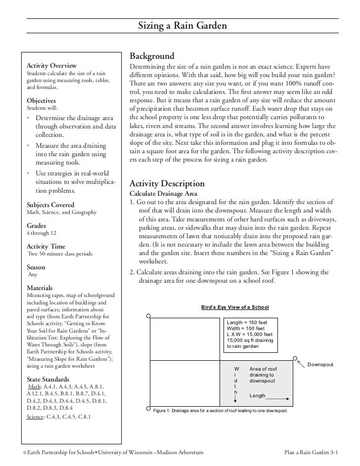 Sizing a Rain Garden                                               Background Activity Overview                           ...
