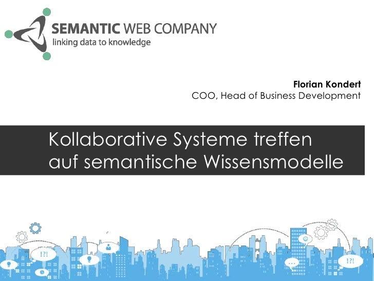 Florian Kondert              COO, Head of Business DevelopmentKollaborative Systeme treffenauf semantische Wissensmodelle