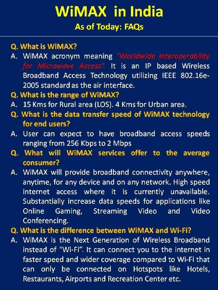WiMAX in India