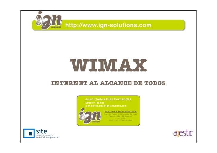 Wimax - Internet al alcance de todos
