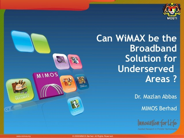 Can WiMAX be the                                             Broadband                                            Solution...