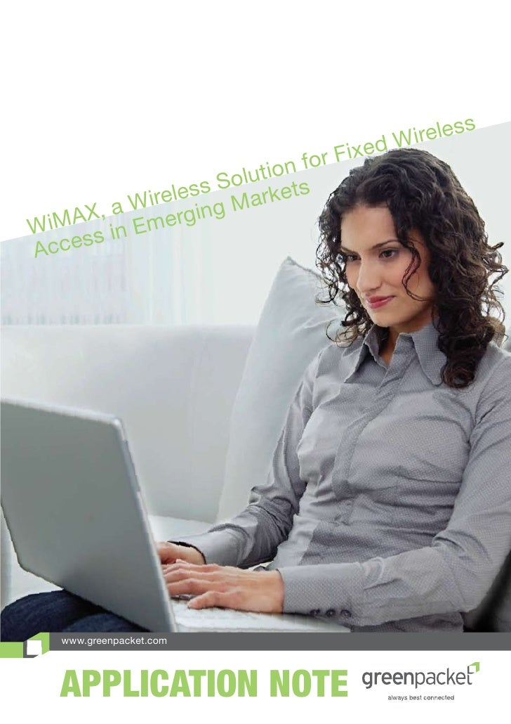 Wi Max, A Wireless Solution For Fixed Wireless Access In Emerging Markets