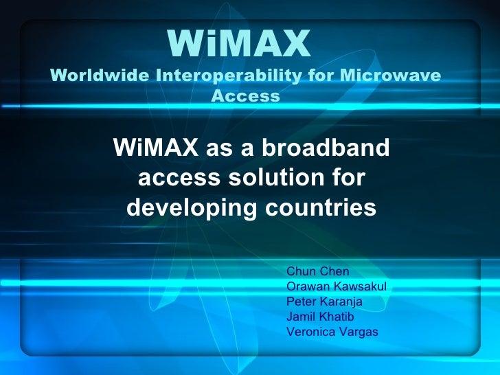 WiMax Scenario