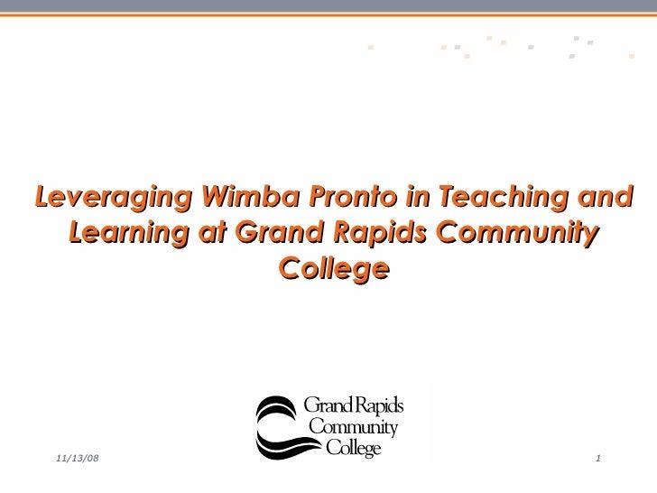 Wimba GRCC Presentation