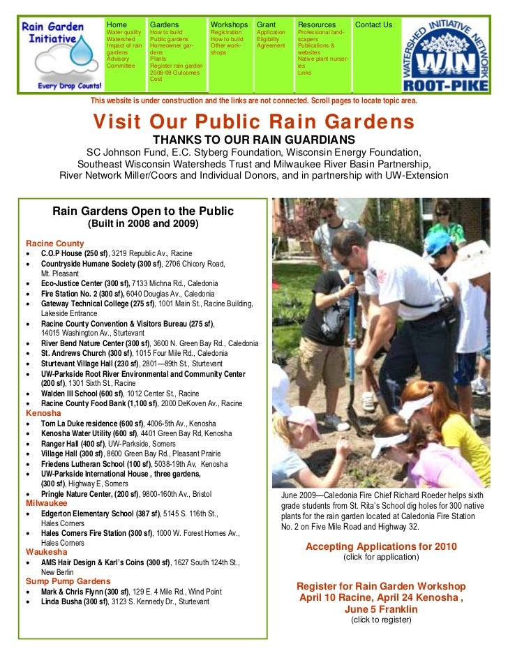 WI: Milwaukee: Visit Our Public Rain Gardens