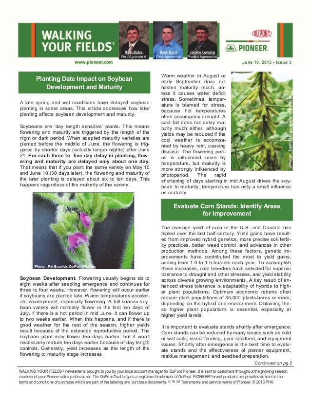 A late spring and wet conditions have delayed soybean planting in some areas. This article addresses how later planting af...
