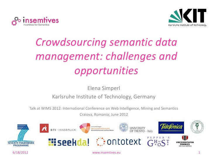 Crowdsourcing semantic data               management: challenges and                      opportunities                   ...