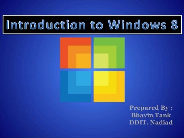 Prepared By :Bhavin TankDDIT, Nadiad