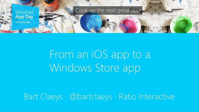 From iOS to Windows 8 App