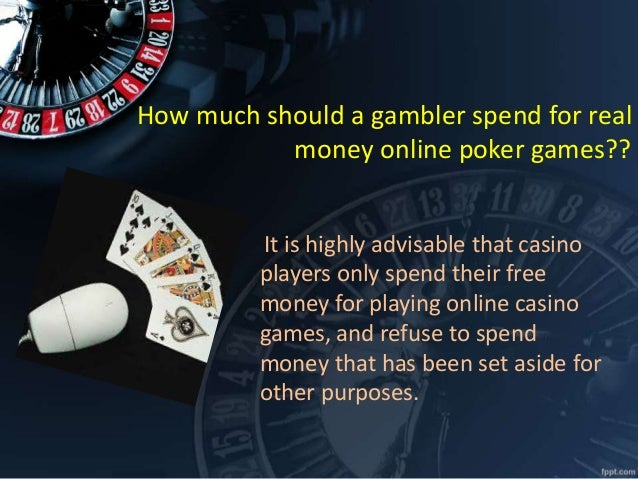 Online poker bet real money
