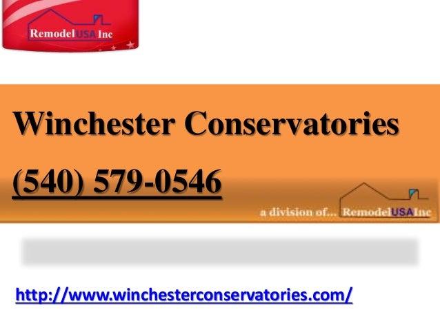 http://www.winchesterconservatories.com/ Winchester Conservatories (540) 579-0546