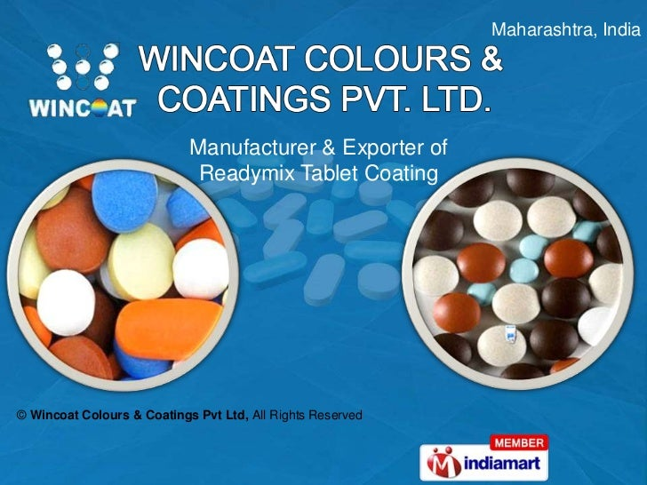Aqueous Film Coating Sugar Tablet Coating Maharashtra India