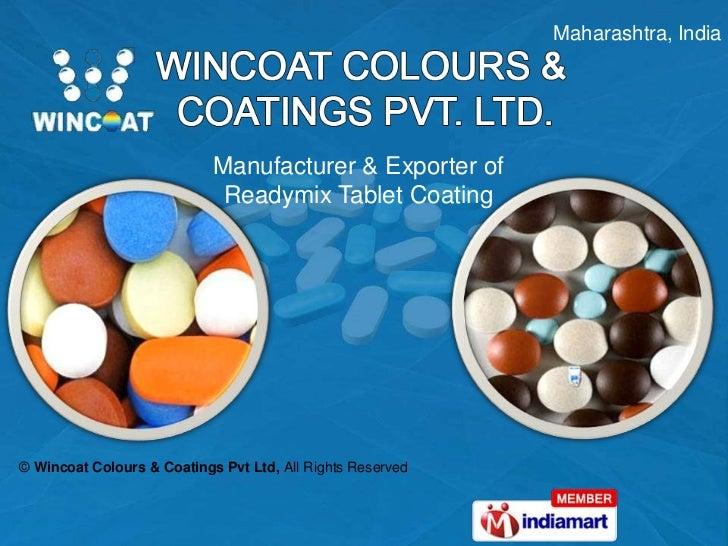 Aqueous Film Coating Sugar Tablet Coating Maharashtra India