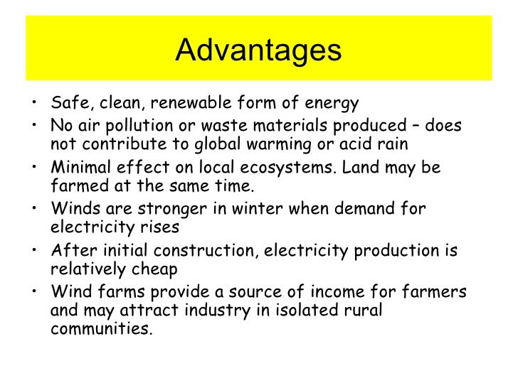 the advantages and disadvantages of using wind power The advantages of wind turbines surpass advantages and potential disadvantages of using wind turbines unlike nuclear power grids, wind energy does not.