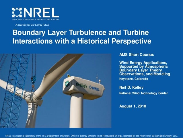 Wind energy applications, ams short course, august 1, 2010, keystone, co