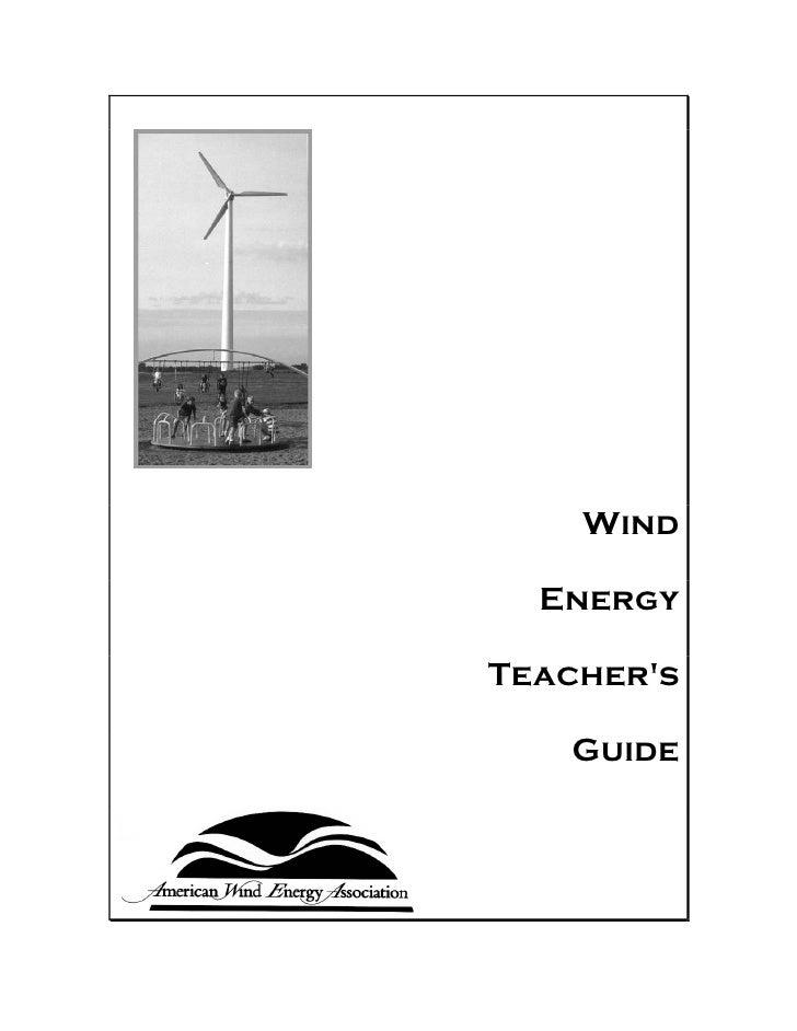 Wind energy teachers guide