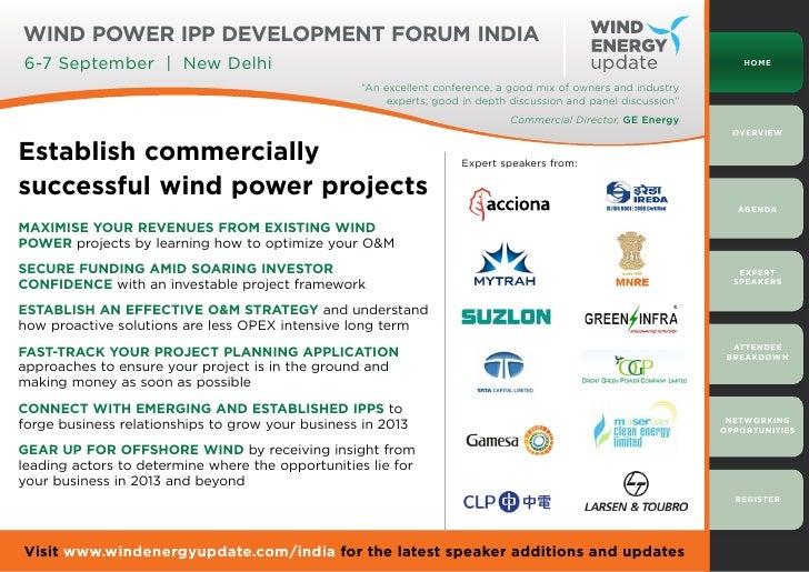 Wind Power IPP Development Forum India6-7 September | New Delhi                                                           ...