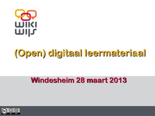 (Open) leermateriaal