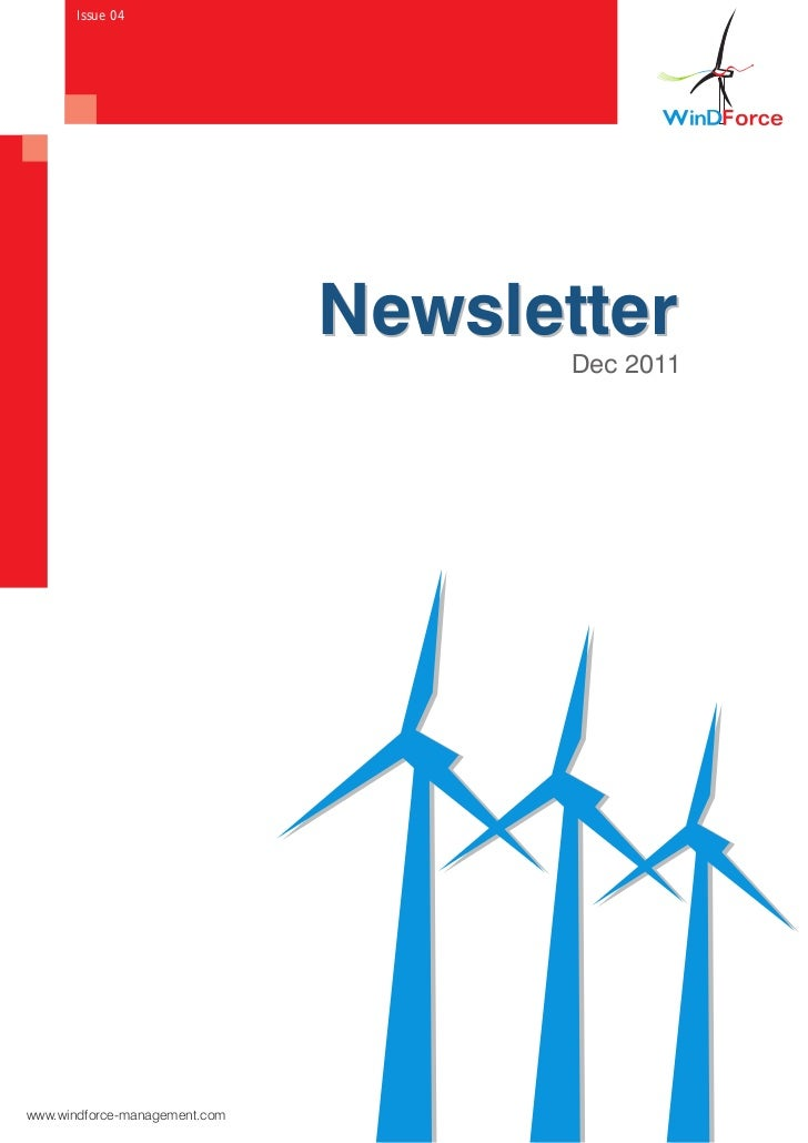 Wind Force Newsletter   Dec, Edition, 2011
