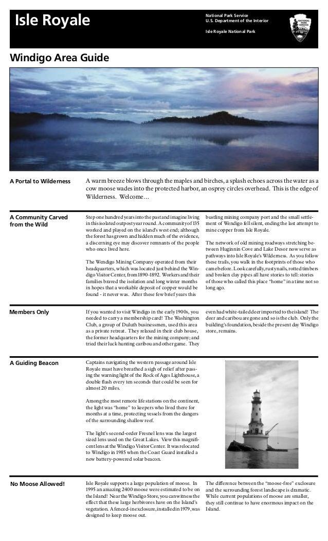 NostalgicOutdoors™- Isle Royal National Park- Windigo Area Guide