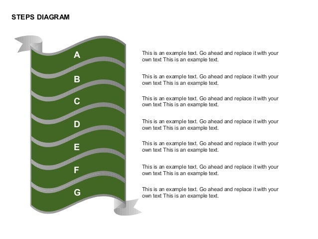 STEPS DIAGRAM This is an example text. Go ahead and replace it with your own text This is an example text. This is an exam...