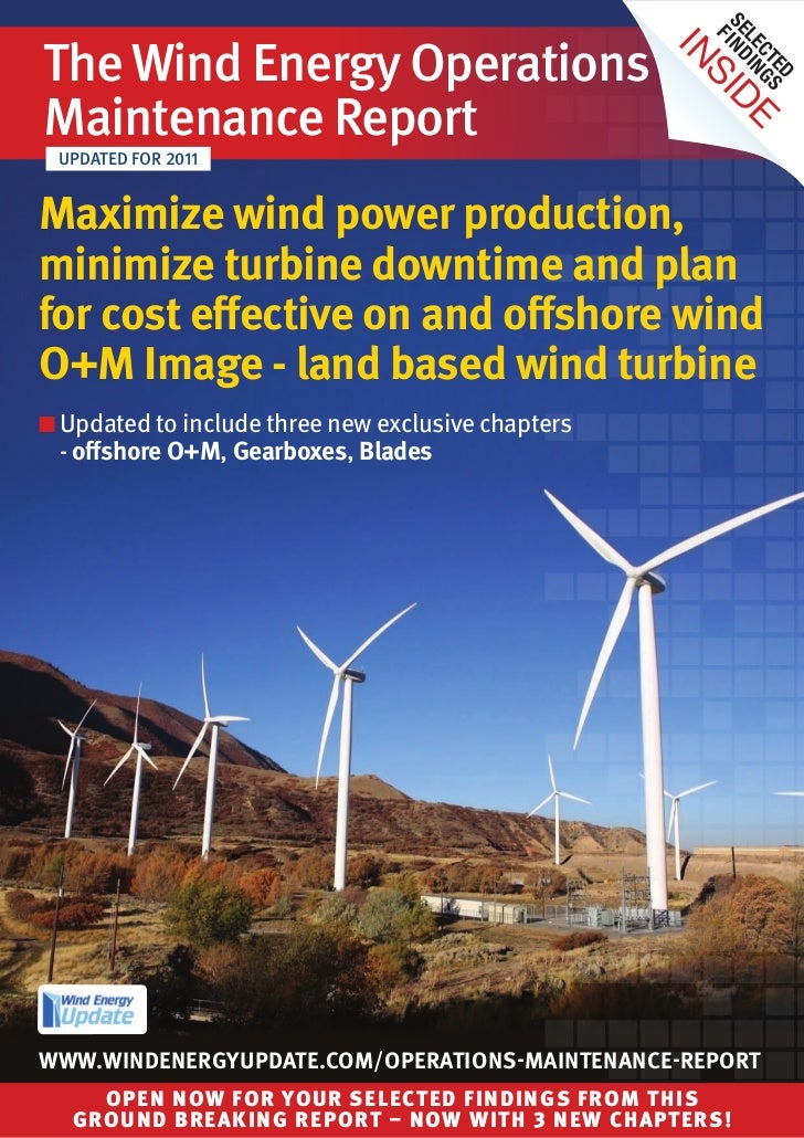 Wind Energy Update's Operations Maintenance Report