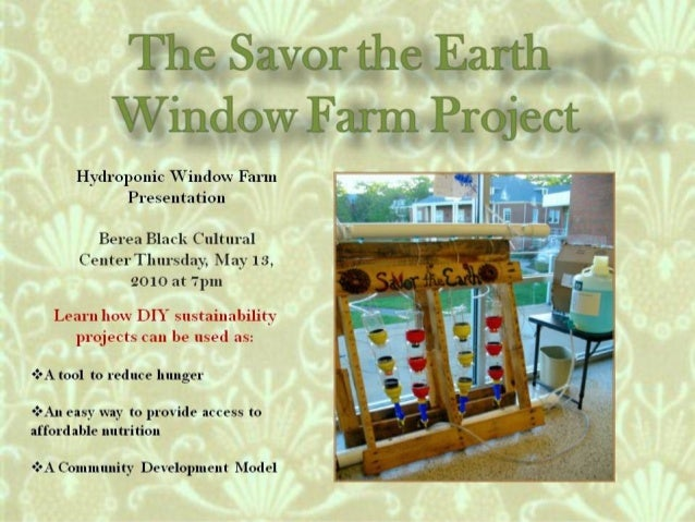 Window Farms Food Security Project