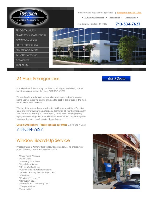 Houston Glass Replacement Specialists | Emergency Service - CALL                                                          ...