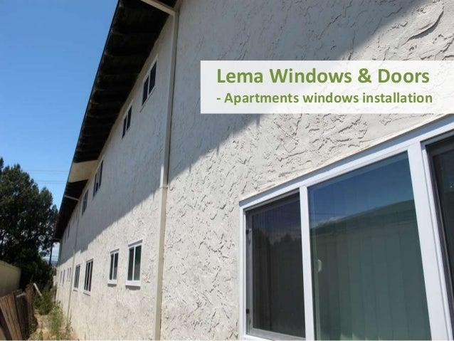Windows installation - apartments